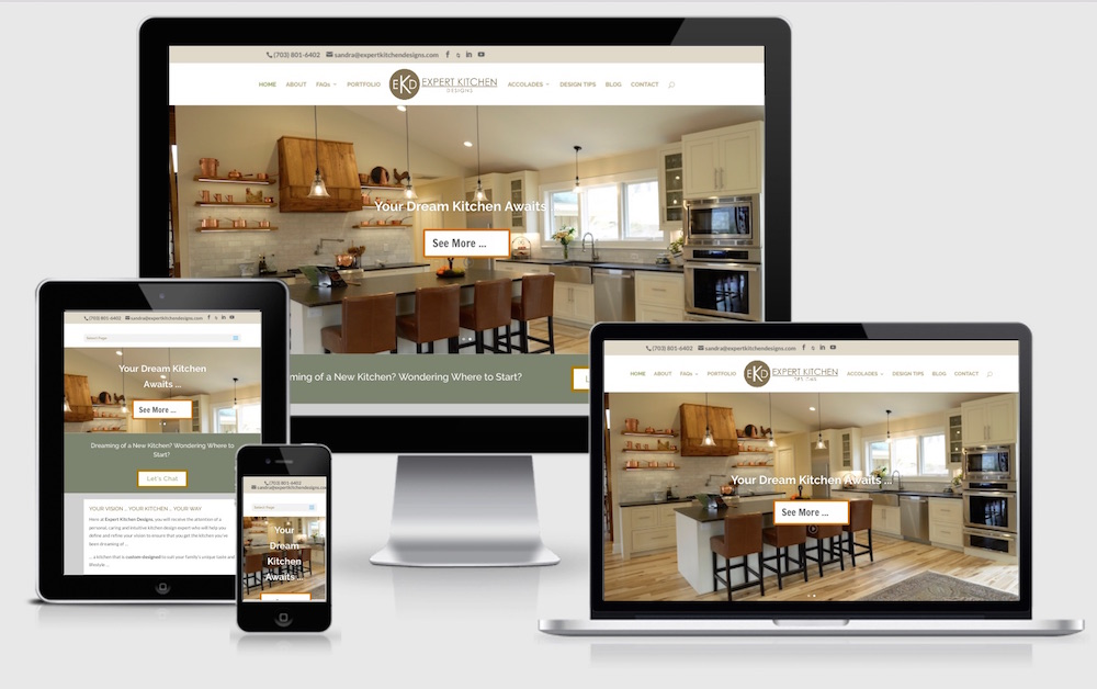 Expert Kitchen Designs Virginia Responsive Website Design