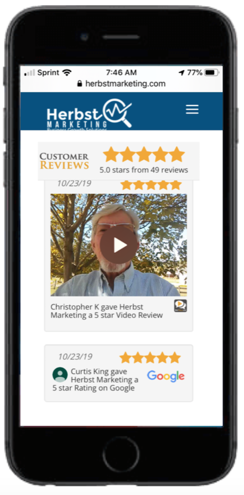 Herbst Marketing Video Review Example