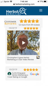 Herbst Marketing 5-Star Video Review