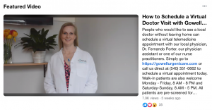 GoWell Urgent Care Virtual Doctor Visit Video