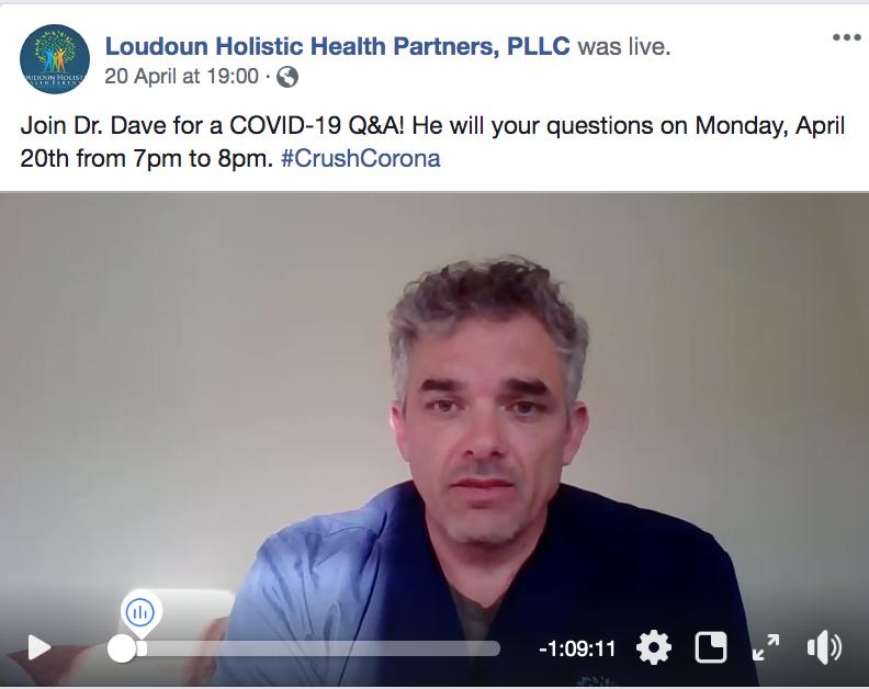 Loudoun Holistic Health Partners Facebook Live Q& A